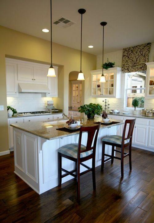 holzboden in der küche für ein wohnliches ambiente - neue