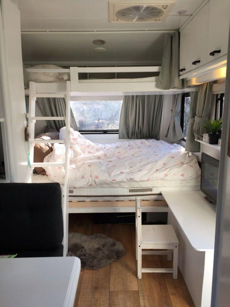 Caravan stapelbed maken caravanity5 home caravan pinterest wohnwagen wohnmobil und - Etagenbett interio ...