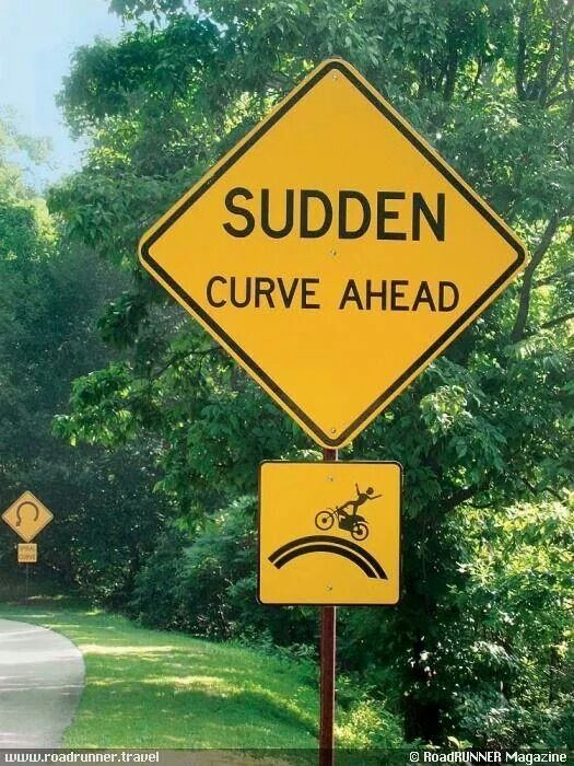 Sudden Curve Ahead Signs North Carolina Attractions Road Signs