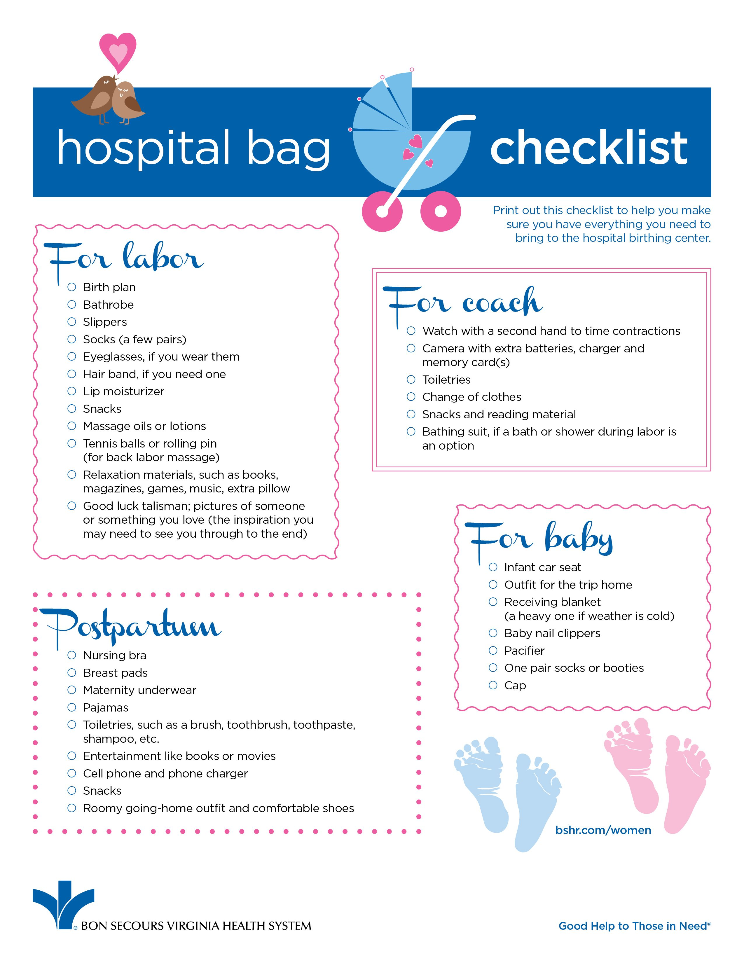 Hospital Bag Checklist for New #Moms - the best items to have with ...