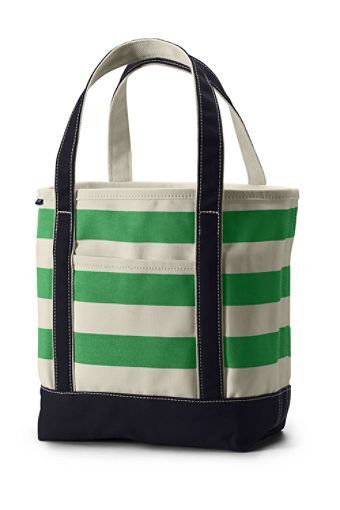 $39.50 land's end green and white stripe with black