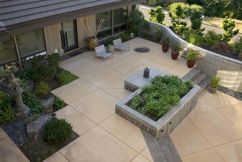#Japanese Inspired Concrete Pavers #backyard