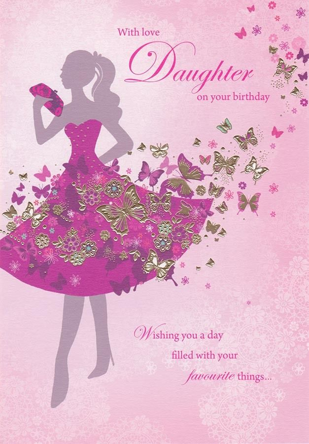 Saramillerdaughtersilhouettebirthdaycard364441410074286 images of daughter birthday card birthday card bookmarktalkfo Images