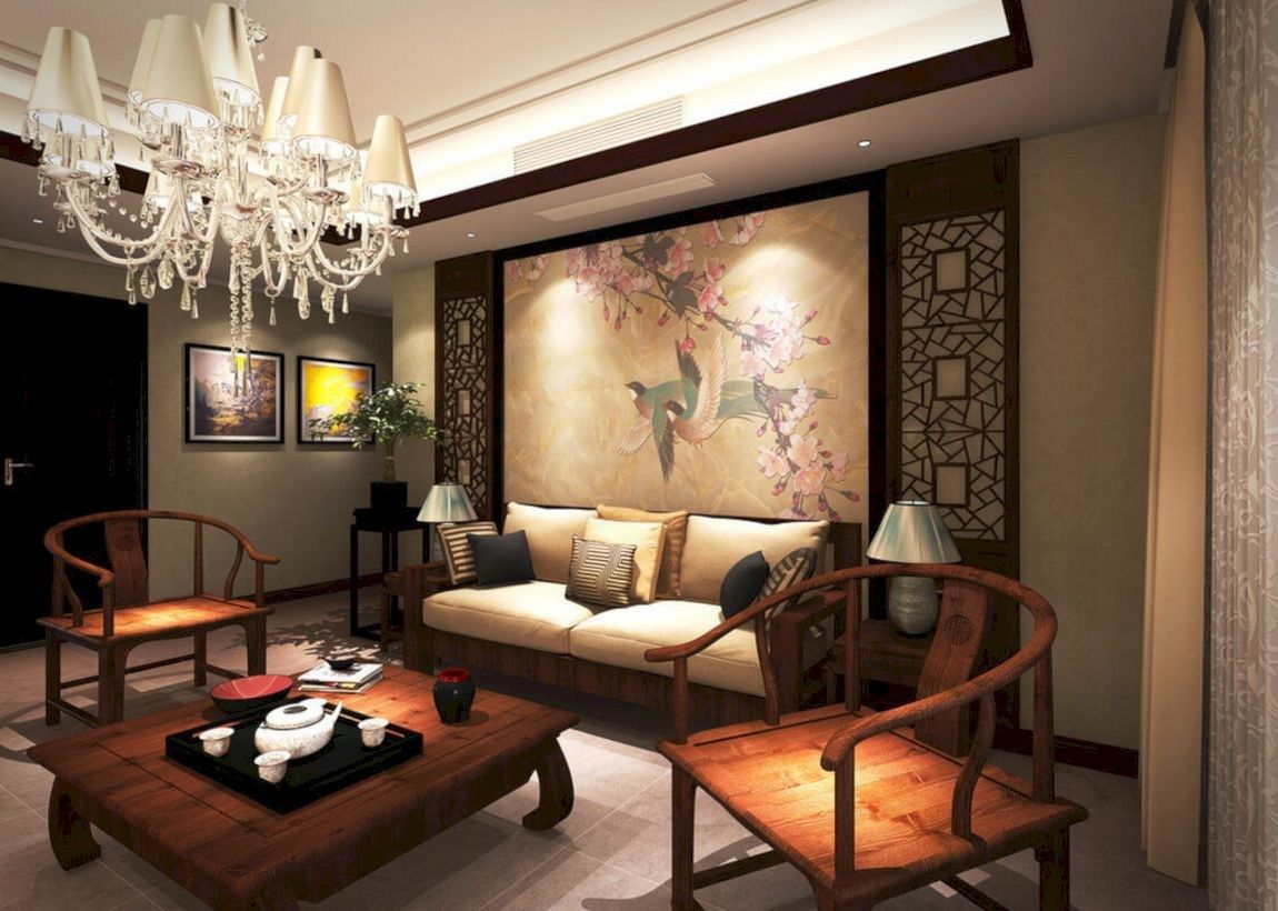 42 Inspiring Chinese Living Room Decoration Ideas