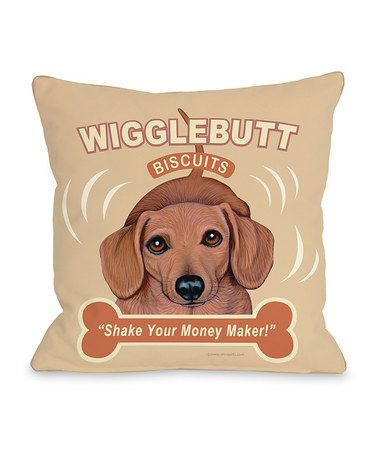 Take A Look At This Yellow Wigglebutt Throw Pillow By