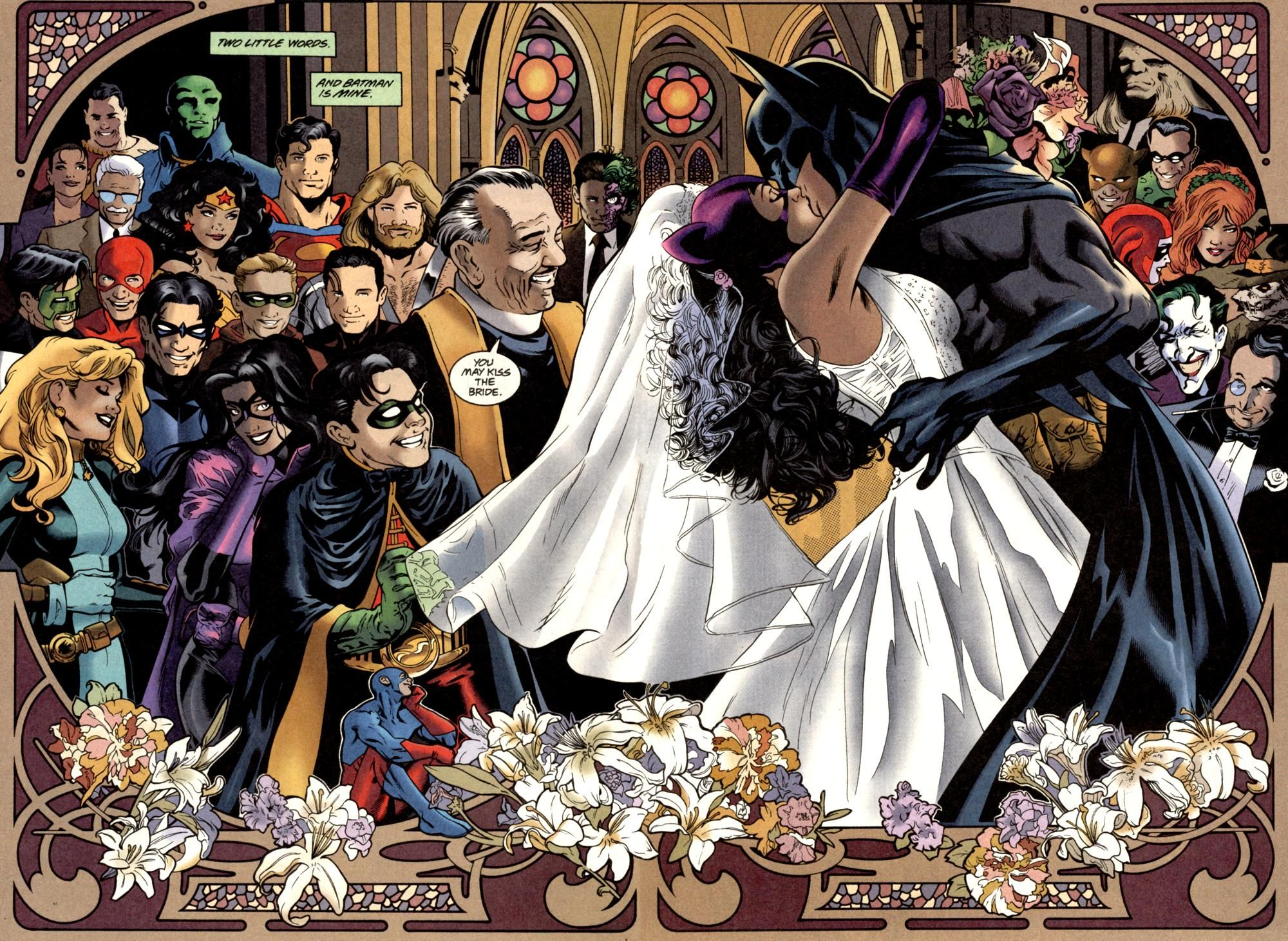 Scans Daily Bat Cat Wedding Batman And Catwoman Catwoman Comic Book Wedding