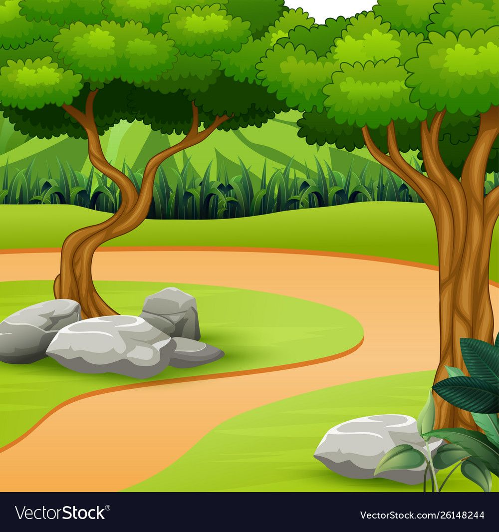 A Dirt Path In Nature Background Vector Image On Vectorstock In 2020 Nature Backgrounds Landscape Illustration Environment Concept Art
