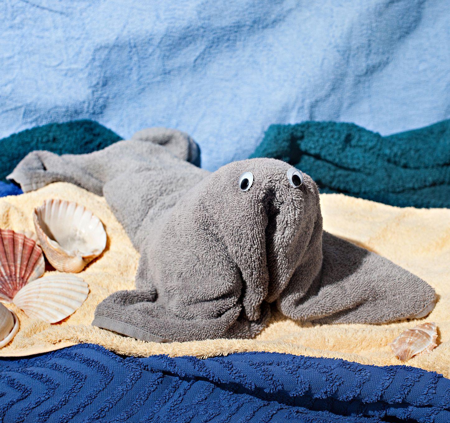 Tiere aus Handtüchern falten