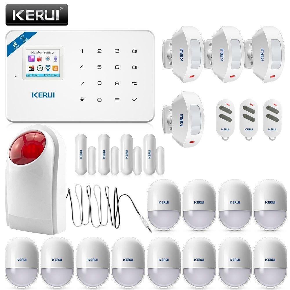 KERUI W18 Wireless Home Alarm Wifi GSM APP Remote Control