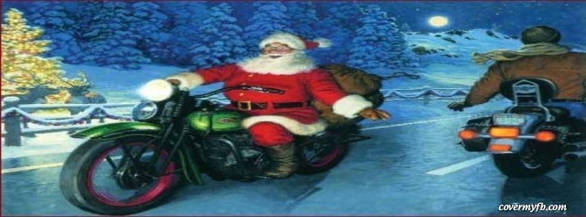 Santa On A Motorcycle Facebook Covers Santa On A Motorcycle Fb