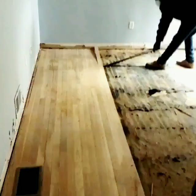 Check Out Our Deconstruction Crew Efficiently Salvaging This Beautiful Wood Flooring That Would Otherwise End Up In A Landfill Because The House Is Being