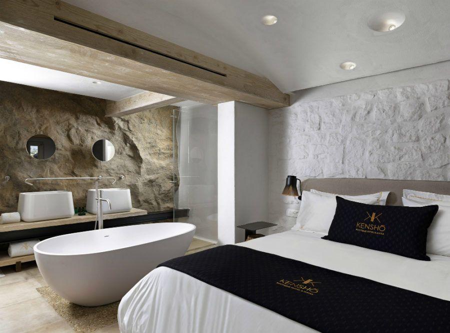 Kenshō Boutique Hotel Suites 900x667 Hotel Bath Ideas For The