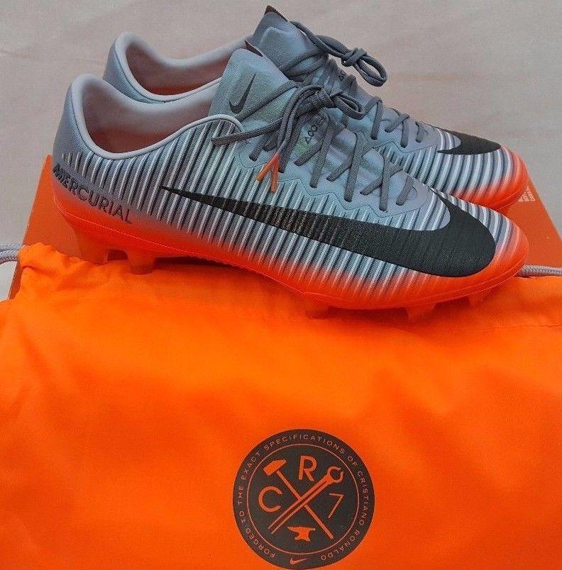 Nike Mens Mercurial Vapor Xi Cr7 Fg Soccer Cleats Grey Metallic 852514 001 Sz 8 Nike Soccer Cleats Mercurial Soccer Cleats Cleats Nike Men