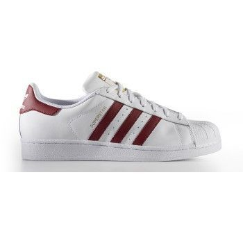 Adidas Superstar White/Burgundy