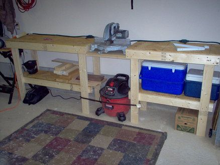 Miter Saw Bench Shop Pinterest Bench Organisations