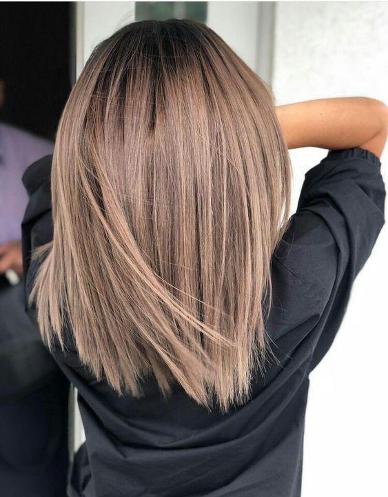 6 Zarte Zweifarbige Haarfarbideen Für Brünette Für 2019 Schauen Sie Rein Kort Mörkt Hår Frisyrer Hårfärg Ljusbrun