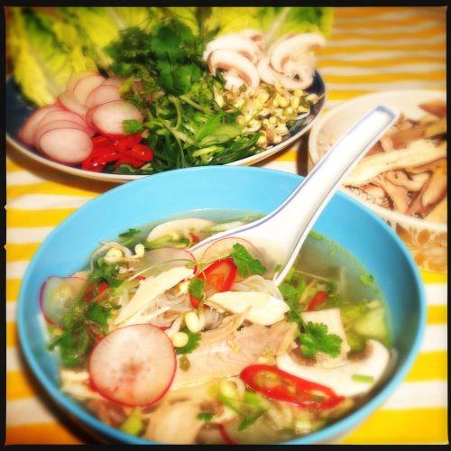 Vietnamesisk pho suppe
