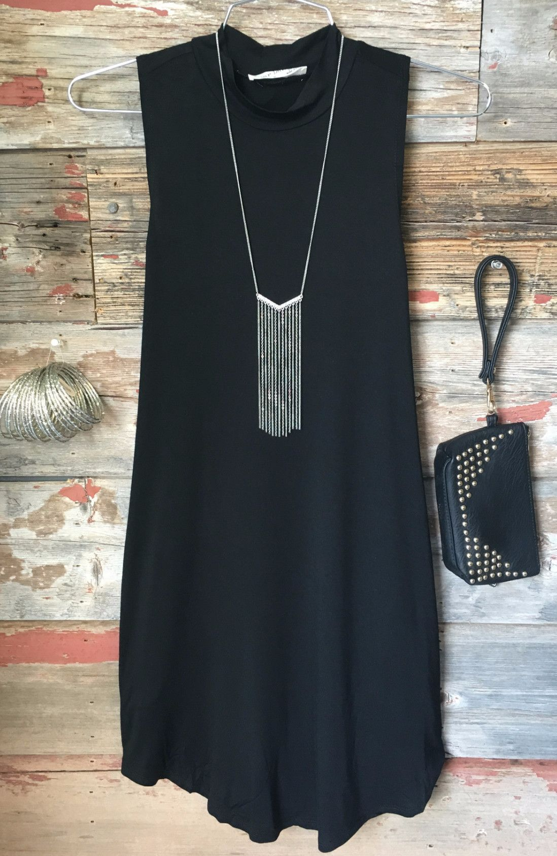 High Tide Tunic Dress Black From Privityboutique