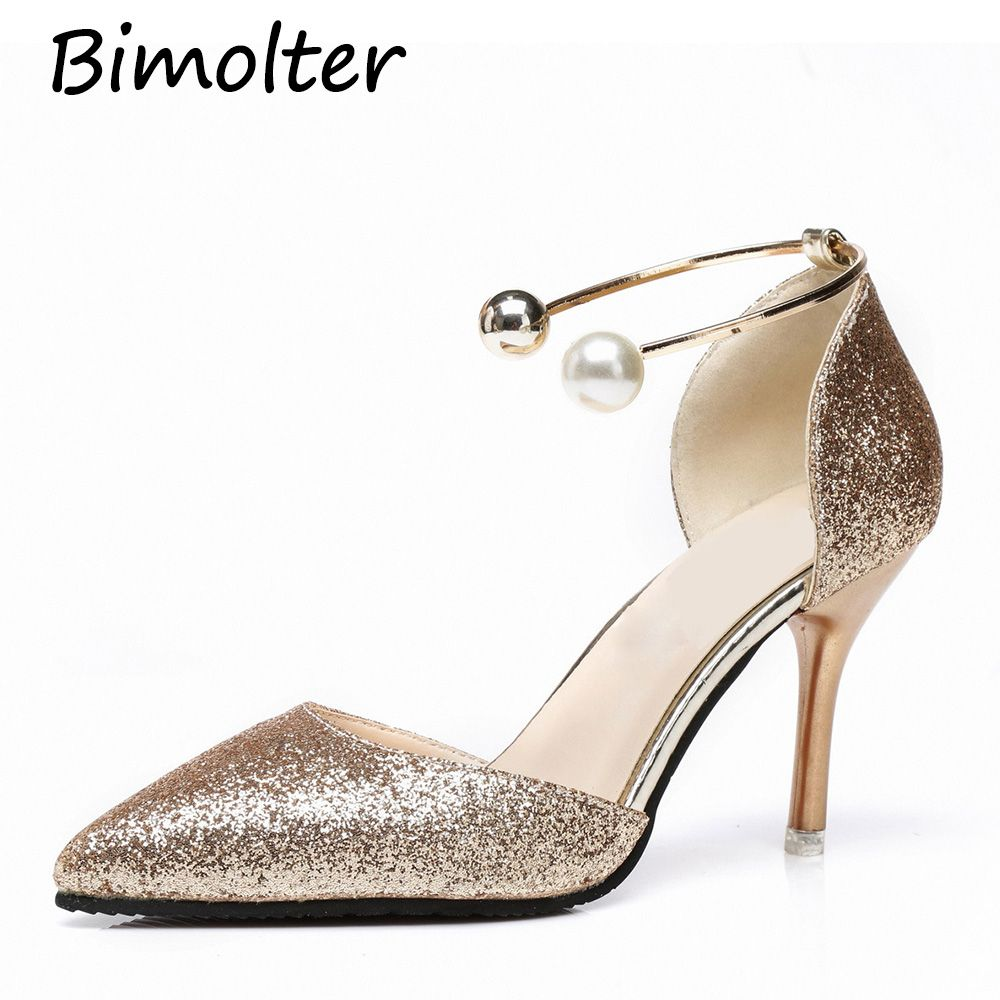 9c0757d212 Find More Women's Pumps Information about Bimolter Crystal Pearl ...