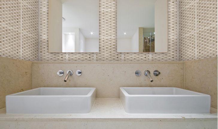 tile beach weave install bathroom installationglass mosaic