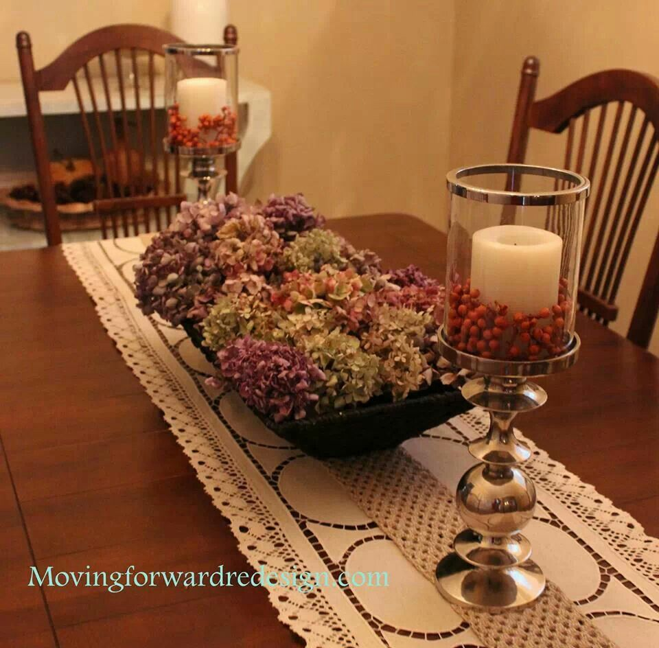 Elegant Fall Table Arrangements: Fall Decorating With Hydrangias