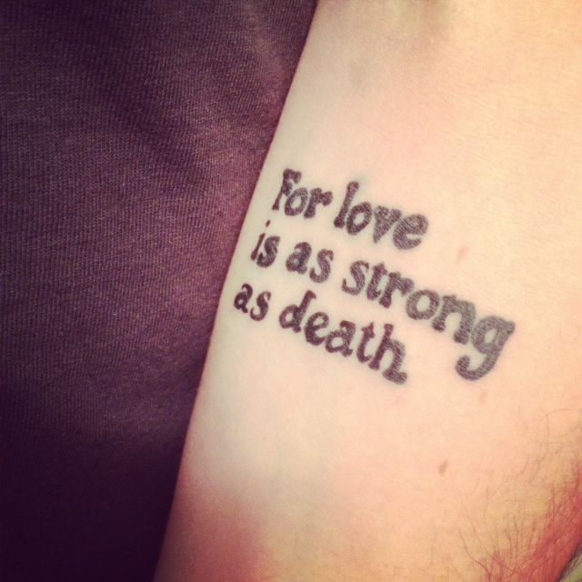 for love is as strong as death