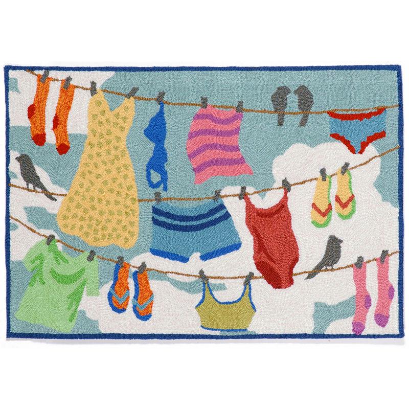 Liora Manne Frontporch Clothes Line Hand Tufted