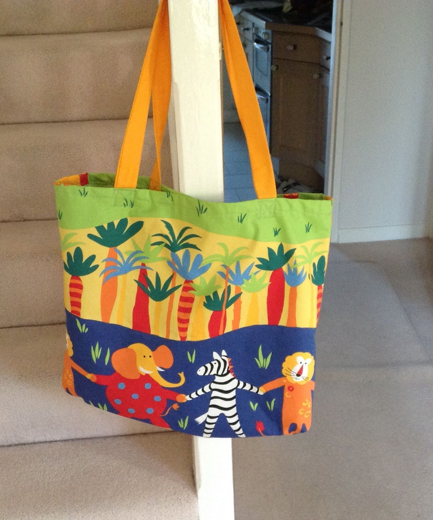 Beach Bag Made From Child S Bedroom Blind Lined And With Internal