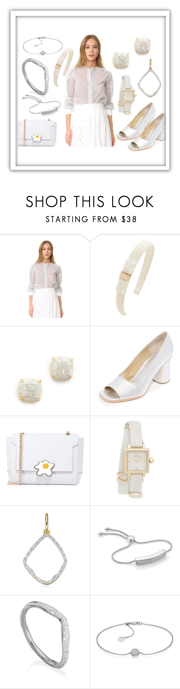 """Peace White"" by paige-brrian ❤ liked on Polyvore featuring Amelia Toro, Salvatore Ferragamo, Kate Spade, Rachel Comey, Anya Hindmarch, Tory Burch and Monica Vinader"