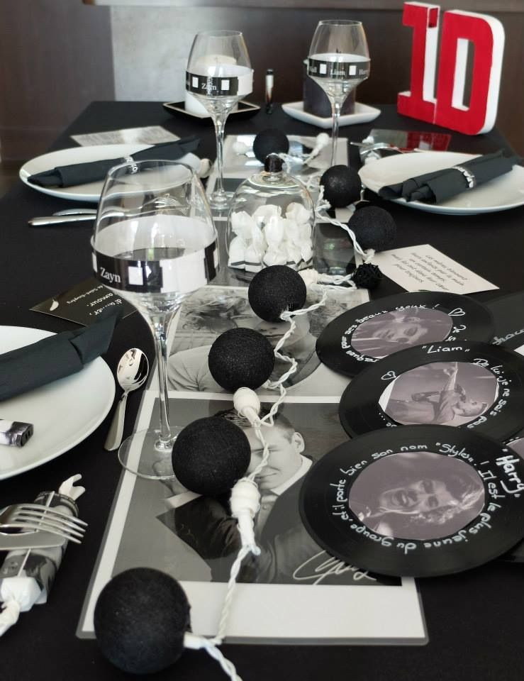Ma table one direction page facebook d co de tables chic et c - Deco table reveillon ...