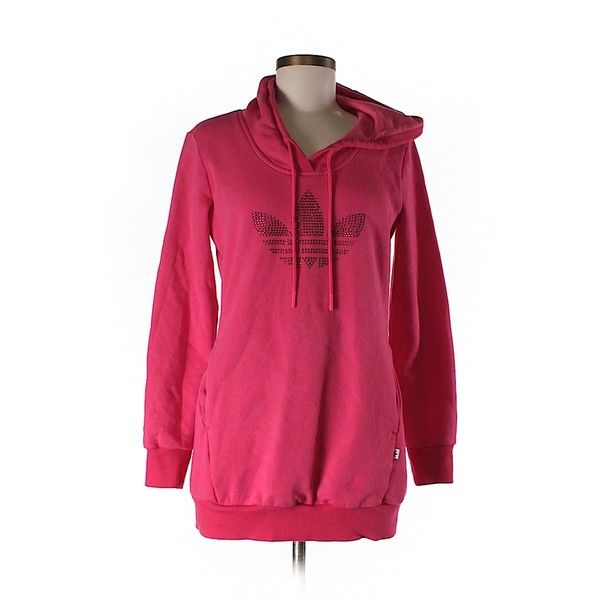 Pre-owned Adidas Pullover Hoodie ($19) ❤ liked on Polyvore featuring tops, hoodies, orange, pullover tops, orange hoodie, adidas hoodies, adidas hoodie and pullover hoodie