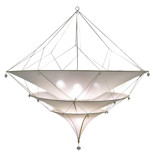 Another OLY item.    Sabina Silk Chandelier - Metal Frame w/Tiered Silk; Includes Canopy & 3-Foot Chain *Five Bulbs Not to Exceed 60W  39 diameter x 40h