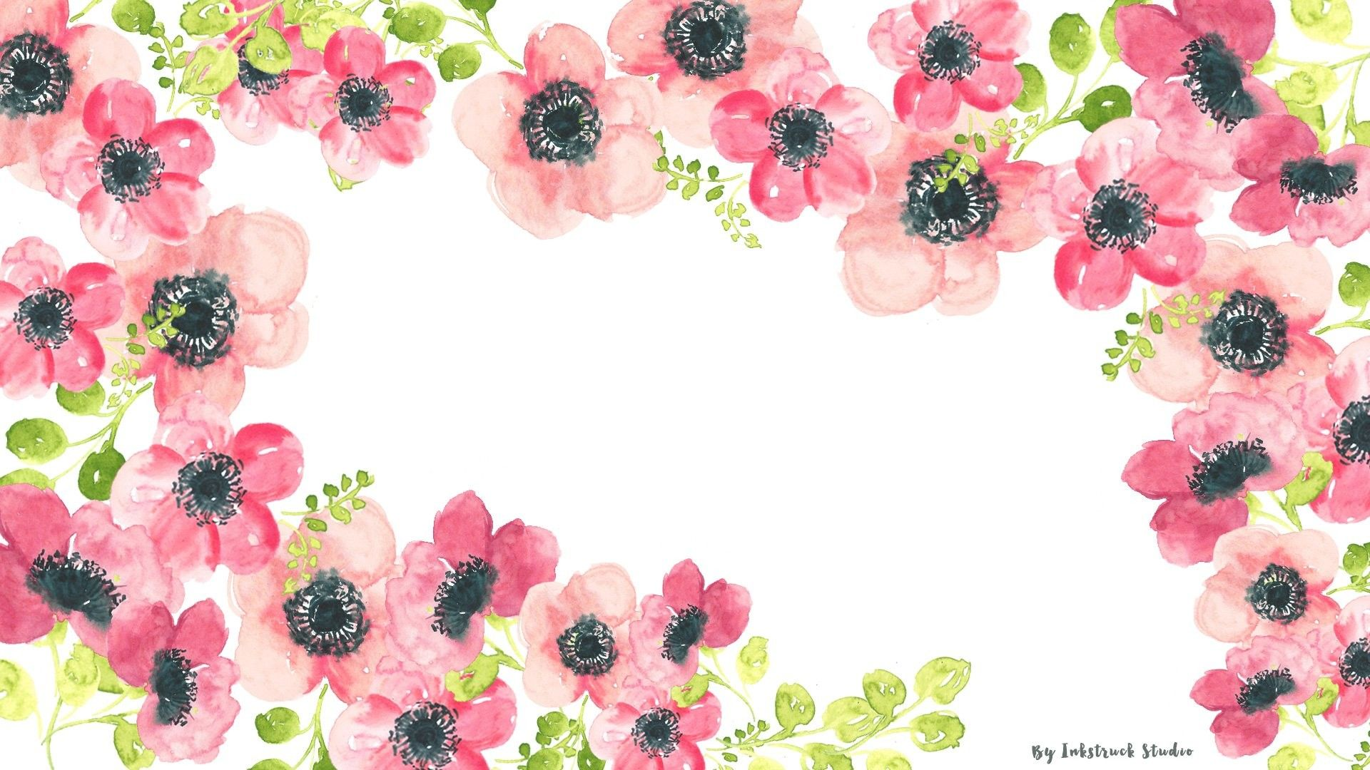 1920x1080 Watercolor Floral Desktop Wallpaper Jpg 1 920a 1 080