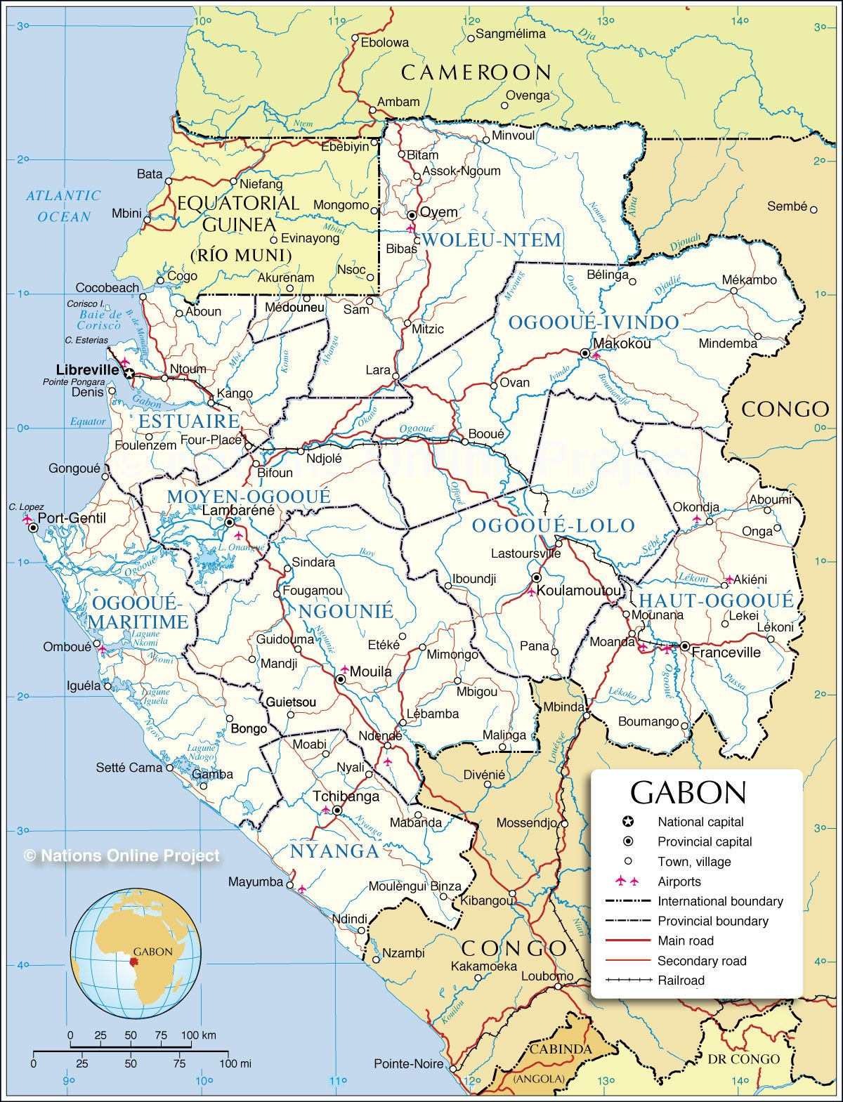 Map Of Gabon A Girl Can Dream Pinterest Map Outline And Politics