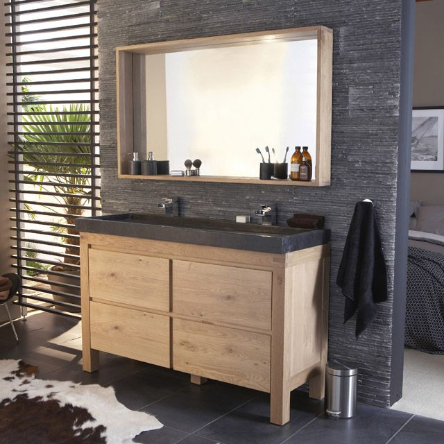 meuble castorama de salle de bain en ch ne fabricant. Black Bedroom Furniture Sets. Home Design Ideas