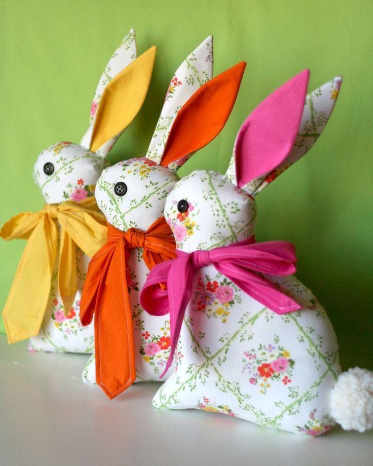 Feeling Springy! Bunnies…Modern Folksy Bunny Sewing Pattern by ...