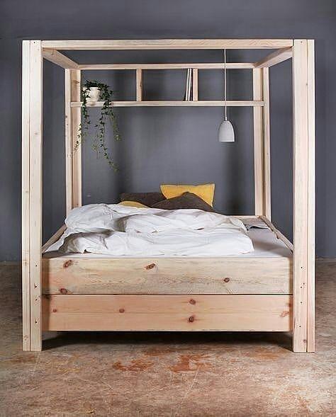 Diy Wooden Canopy Bed Frame
