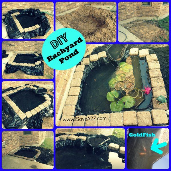 Diy easy backyard pond design idea pond backyard and for Homemade pond ideas