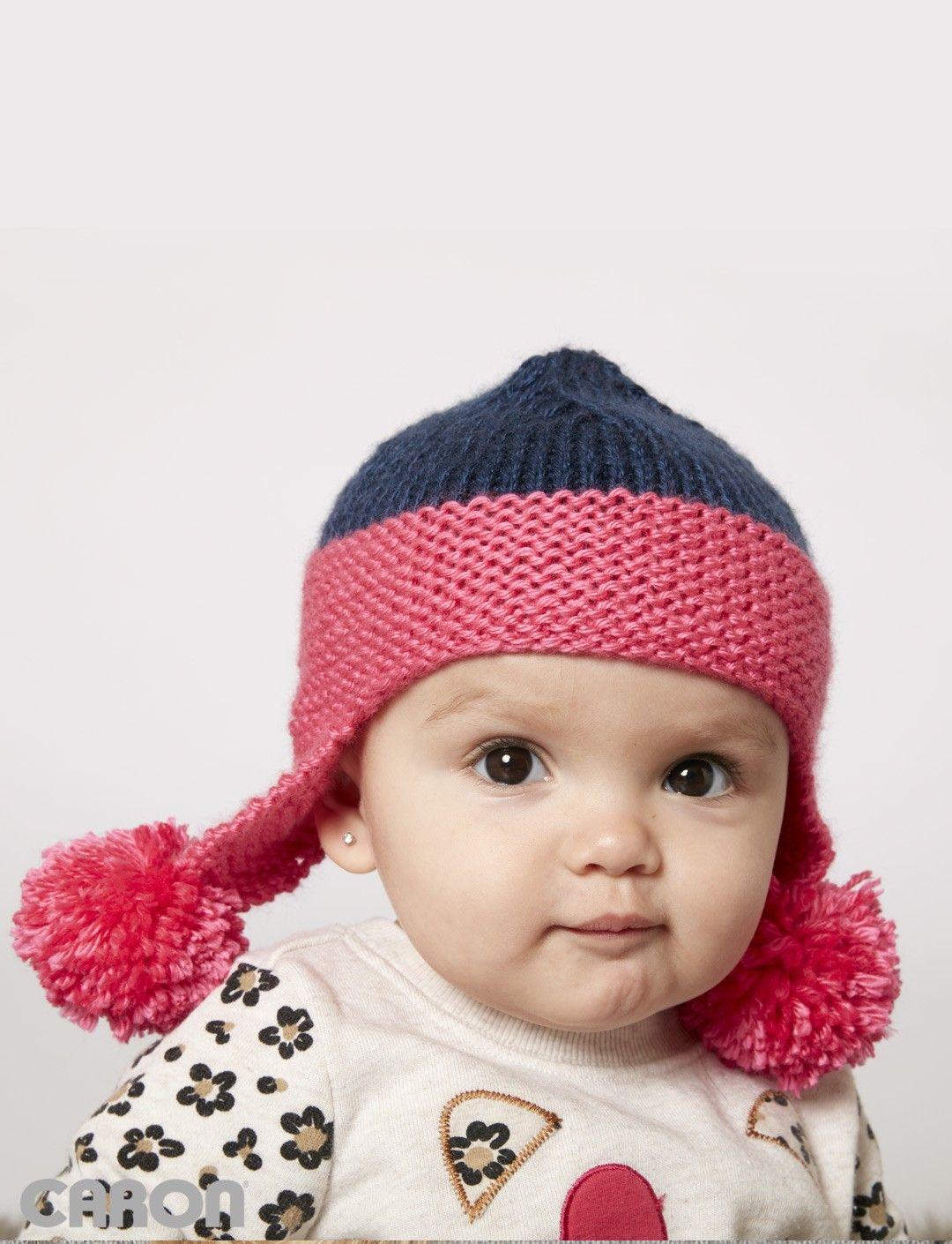 Yarnspirations.com - Caron Baby Earflap Hat - Patterns ...