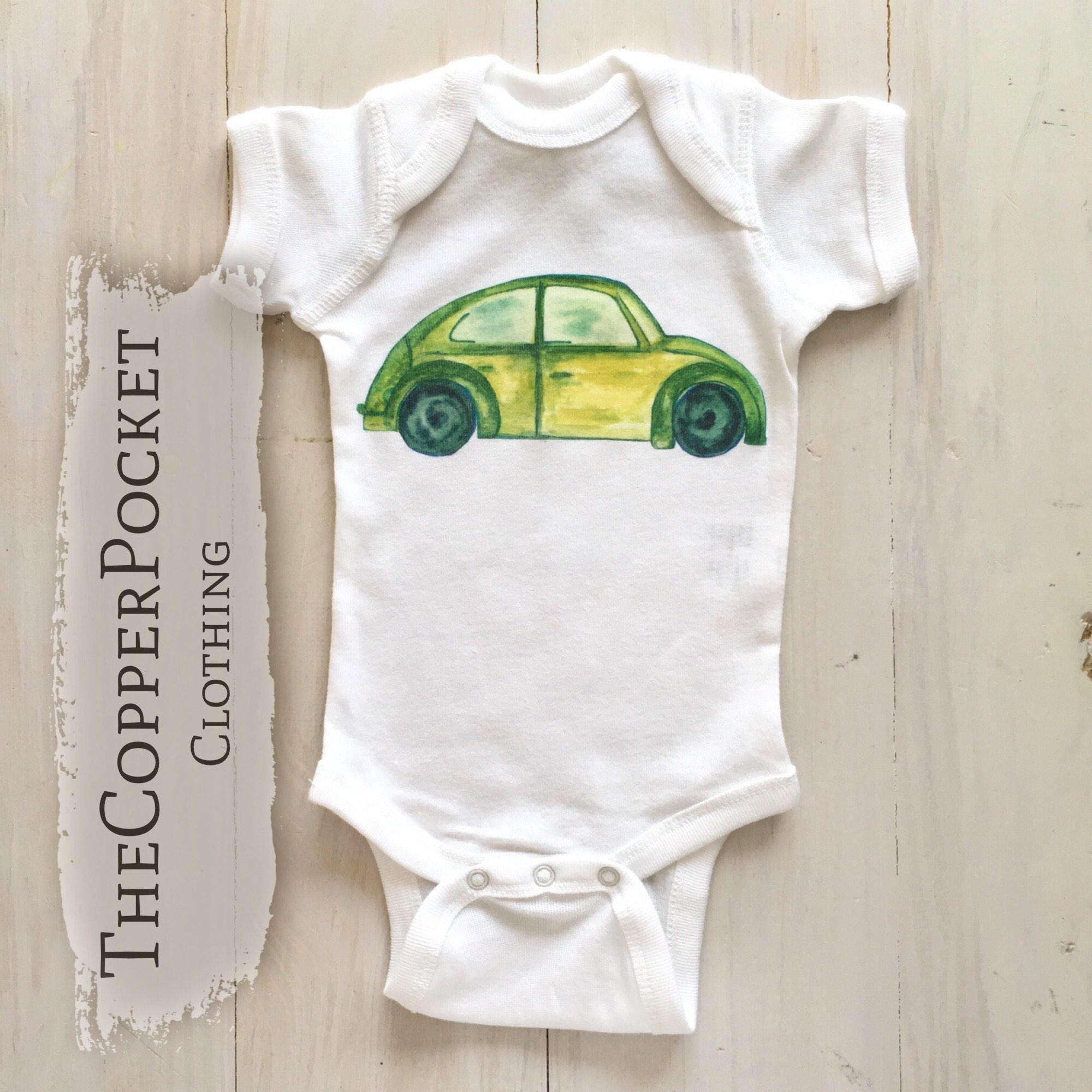 Cute funny unique baby clothes clothing for babies Car baby bodysuit