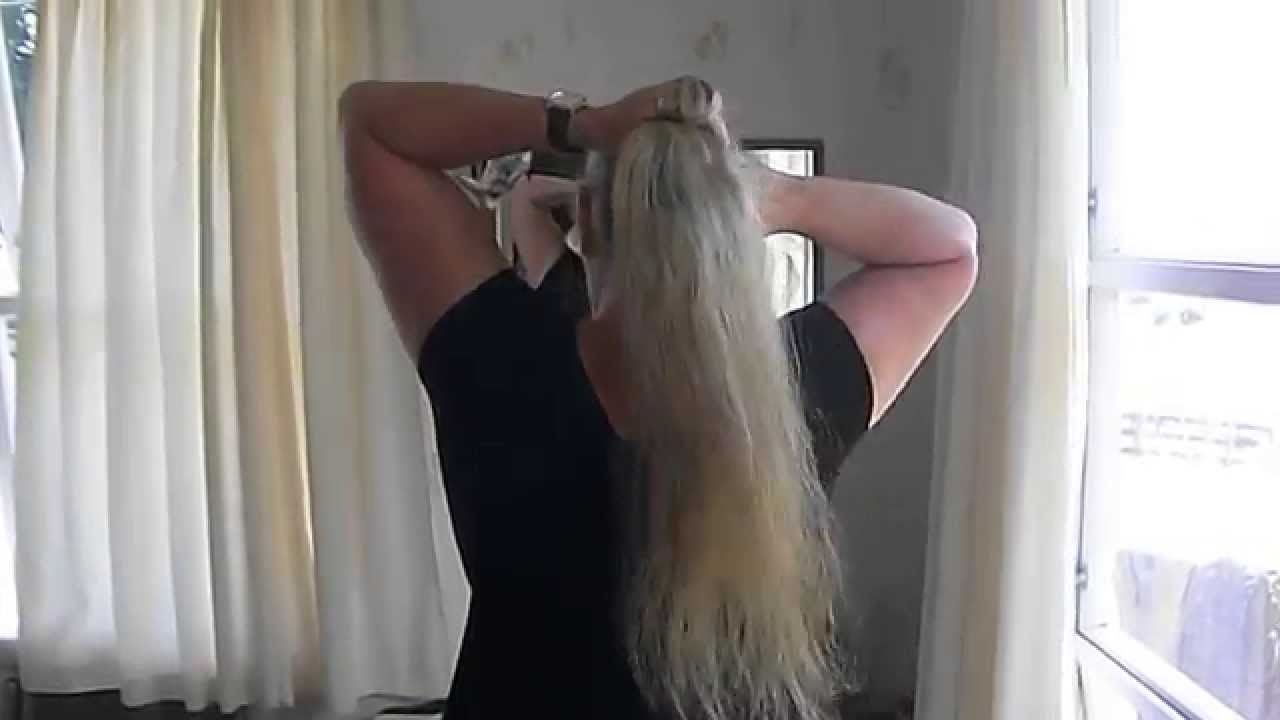 How To Make A Ponytail Without An Elastic  The Lazy Wrap Ponytail Bun
