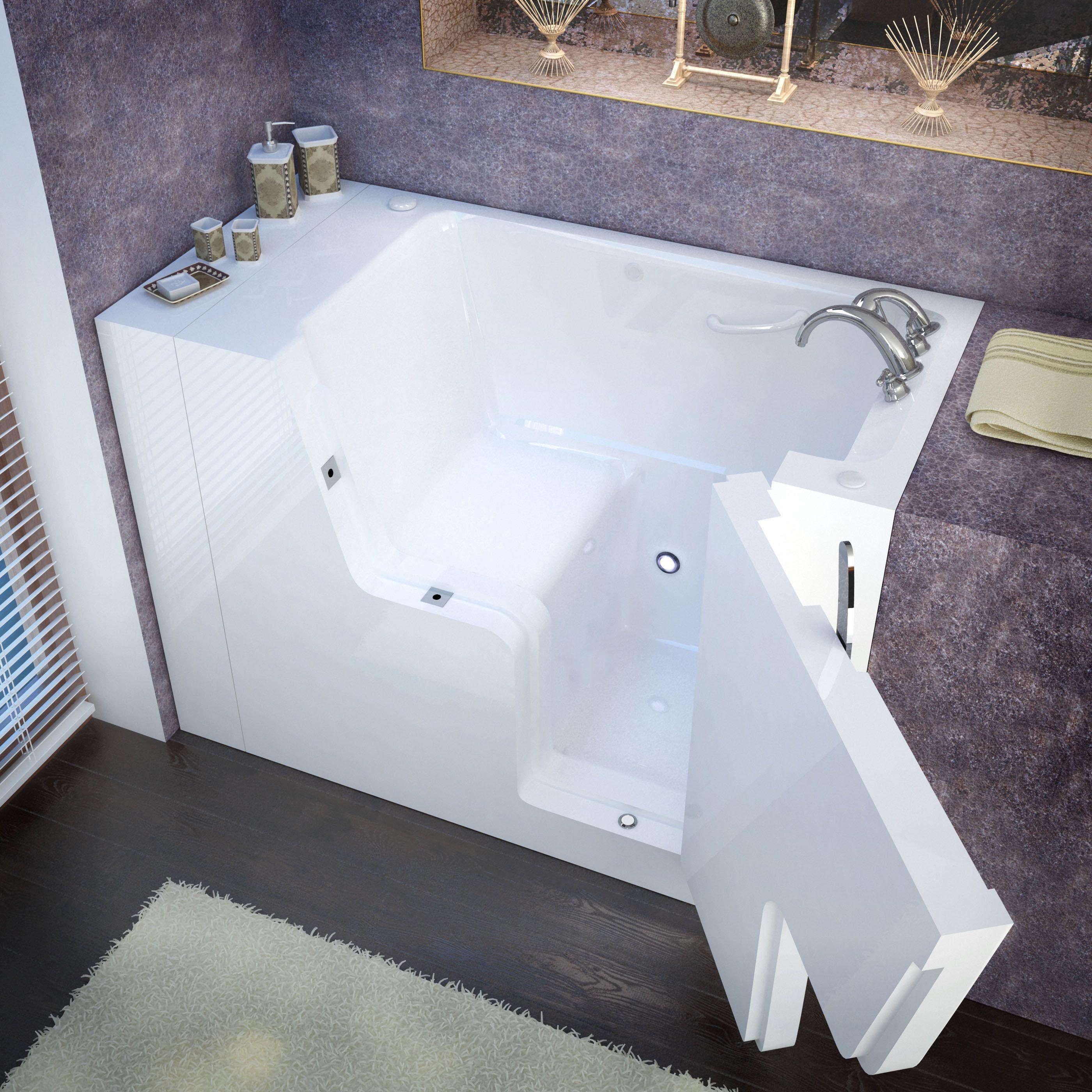 MediTub Wheelchair Accessible 29x53-inch Right Drain White Soaking ...