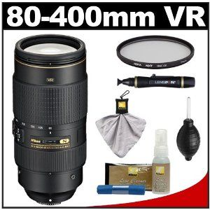 Nikon 80 400mm F 4 5 5 6g Vr Af S Ed Nikkor Zoom Lens With Uv Filter Cleaning Accessory Kit For D3100 Cleaning Accessories Digital Slr Camera Digital Slr