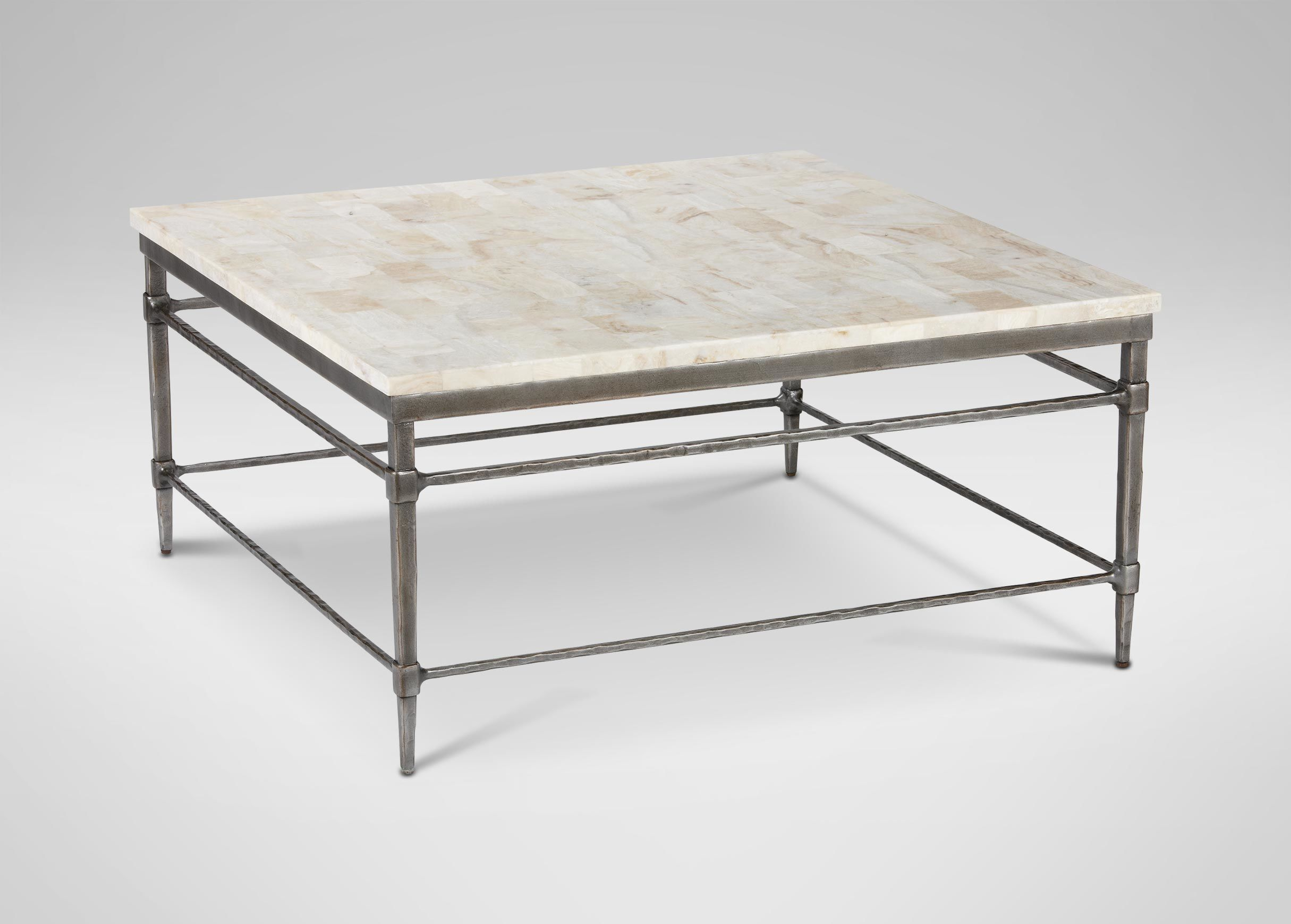 Vida Square Stone Top Coffee Table Large Square Coffee Table