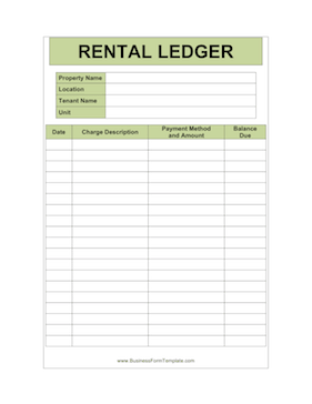 Apartment Manager Individual Ledger Template Rental Property Management Apartment Management Lease Agreement Free Printable