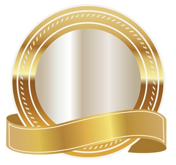 Gold Seal With Gold Ribbon Png Clipart Image Ribbon Png Gold Ribbons Clip Art