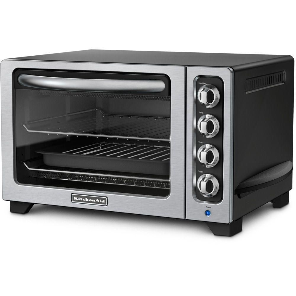 Kitchenaid 12 In Countertop Oven In Onyx Black Kco222ob The Home Depot Kitchenaid Toaster Oven Convection Toaster Oven Countertop Toaster Oven