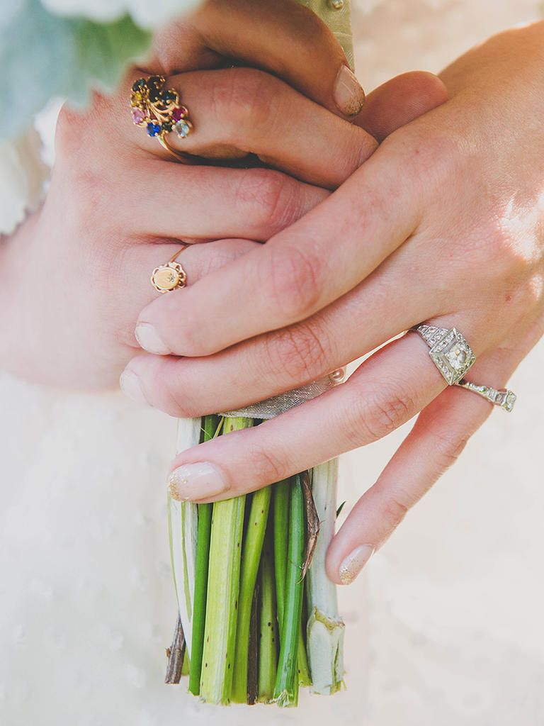 10 French Manicure Ideas for Your Wedding Day | Manicure, Gold ...