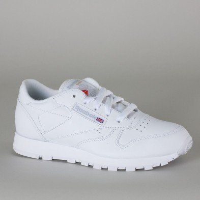 30b7405a8ee Reebok Trainers Shoes Kids Classic Leather White Reebok.  51.36 ...