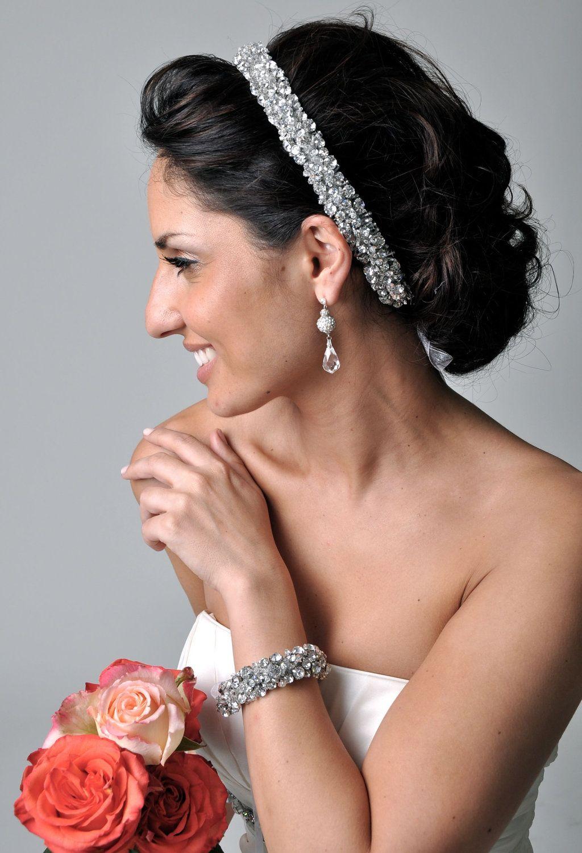 Peaches geldof wedding dress  AUDRA Hair Accessories Bridal Rhinestone Wedding Headband